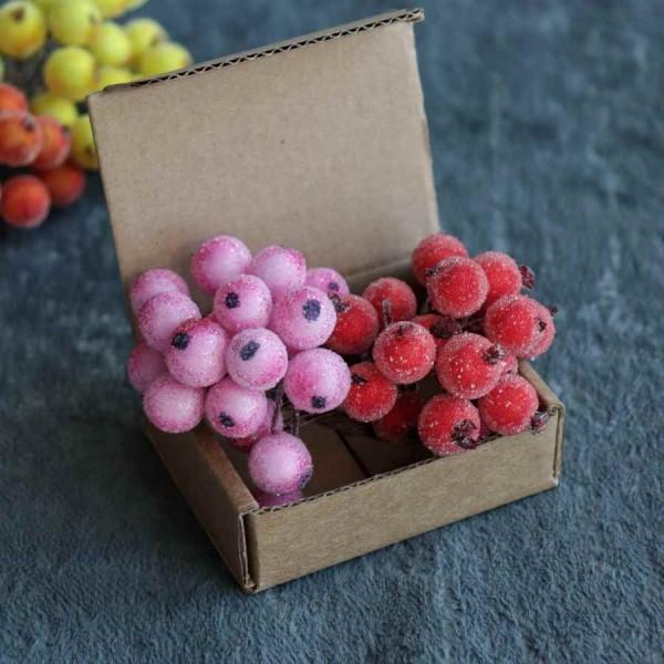 Декоративные ягодки в посыпке, пучок 17-18 шт, арт. yagodki_1