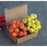 Декоративные ягодки в посыпке, пучок 17-18 шт, арт. yagodki_2