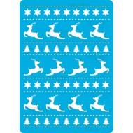 Трафарет - 178. «Рождественские олени», 15смх20см  Толщиной 190мкм