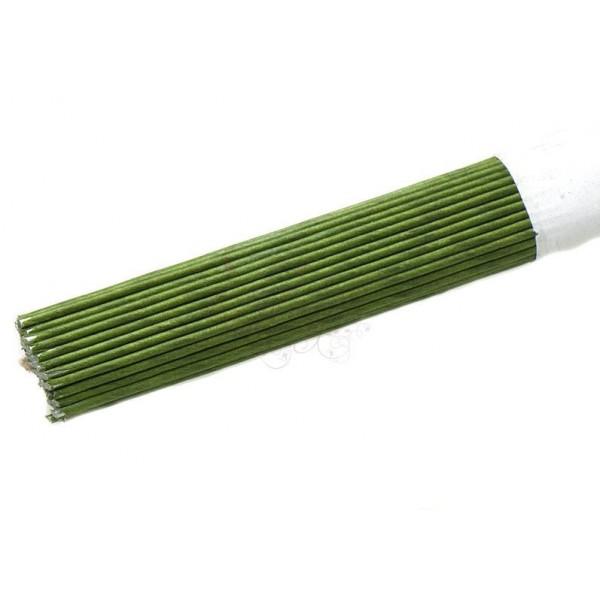 Проволока тейпированная №18, длина 30 см, количество 10 штук, цвет зеленый, Тайланд,