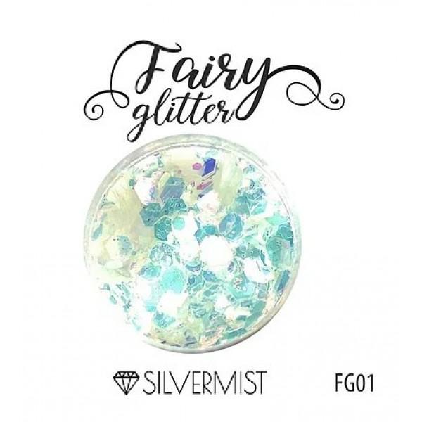 Глиттер серии FairyGlitter, Silvermist, 15гр