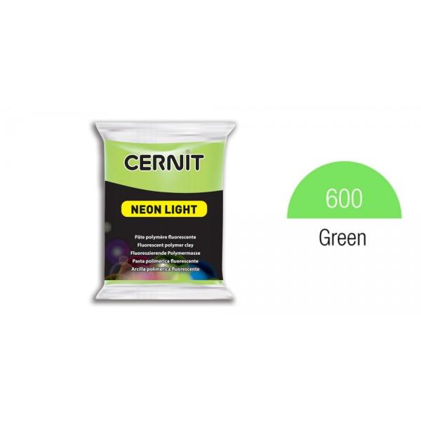 Полимерная глина CERNIT NEON 56 г., 600 - зеленый