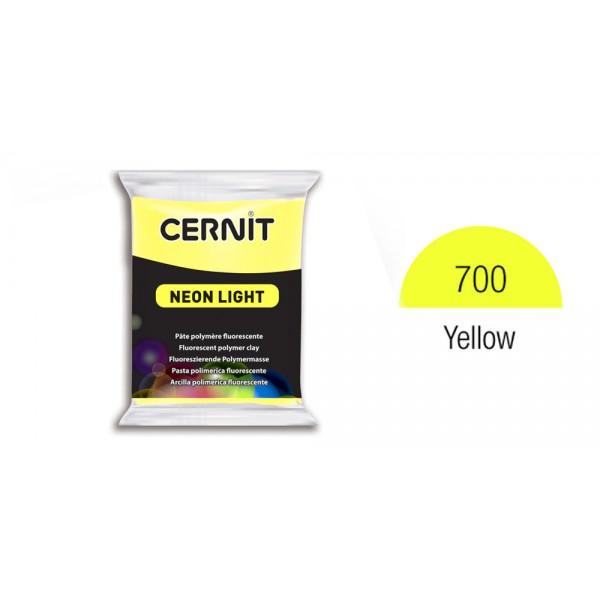 Полимерная глина CERNIT NEON 56 г., 700 - желтый