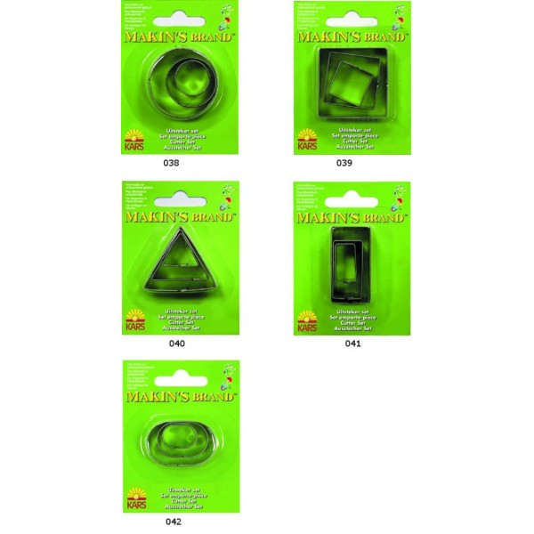 Форма для лепки Прямоугольник, металл, 3 шт арт. 661041