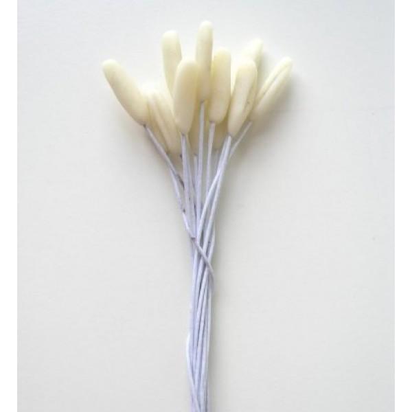 Тычинки тюльпана, цвет - белый, 12 шт в пучке