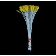 Тычинки тюльпана, цвет - желтый, 12 шт в пучке