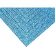 Глиттерный картон А4, цвет Голубой, 250 гр