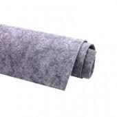 Фетр жесткий 2 мм, размер 90х50 см, плотность 330 гр, цвет: светло - серый меланж арт. 2m03