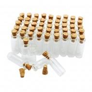 Стеклянная бутылочка с пробкой, размер 11х22 мм, обьем 1 мл