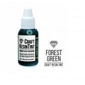 Краситель непрозрачный для смолы и полимеров CraftResinTint, лесной зеленоый, 10 мл