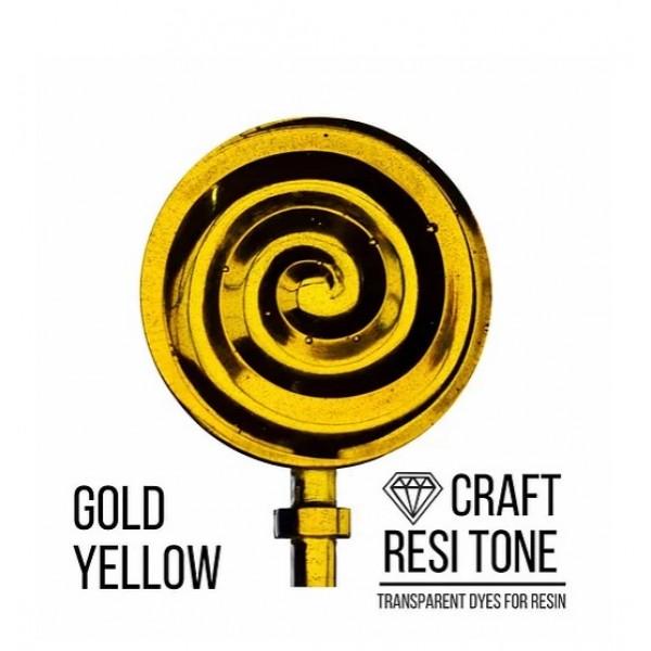Прозрачный краситель для эпоксидной смолы CraftResinTint, Желтый золотистый, 10 мл
