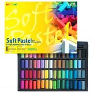 Пастель сухая мягкая квадратная профессиональная 1/2 длины 64 цвета в картонной коробке арт. MGMPS64