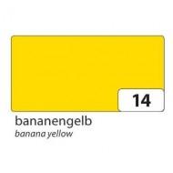 Картон двухсторонний однотонный, цвет лимонный, 50*70 см, арт. 6114