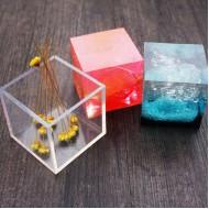Молд для эпоксидной смолы куб