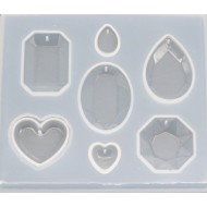 Набор форм для заливки смолой, размер 7,7х8,9 см  арт. mold4n