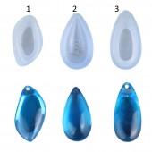 """Молд для эпоксидной смолы """"Камень-подвеска"""", размер 2х3,3 см арт. mold9"""