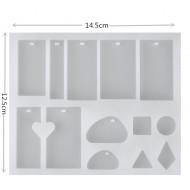Набор форм для эпоксидной смолы 14,5 х 12,5 х 1см см арт.13