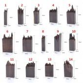 Деревянная заготовка для заливки эпоксидной смолой,  цвет: темное дерево