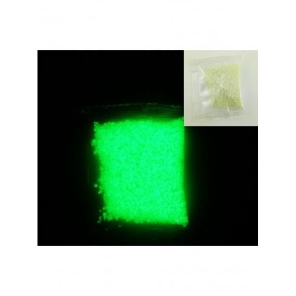Люминофорная (светящаяся) крошка 10 гр, цвет: зеленый, размер 1 - 3 мм