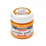 Краска Pentart матовая акриловая оранжевая, 50мл арт. 1226