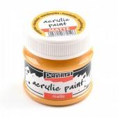 Краска Pentart матовая акриловая мандарин, 50мл арт. 20982