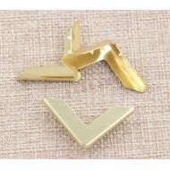 Уголок металлический, уголок для блокнота, цвет: золото, 25 мм, арт. ugolok_9