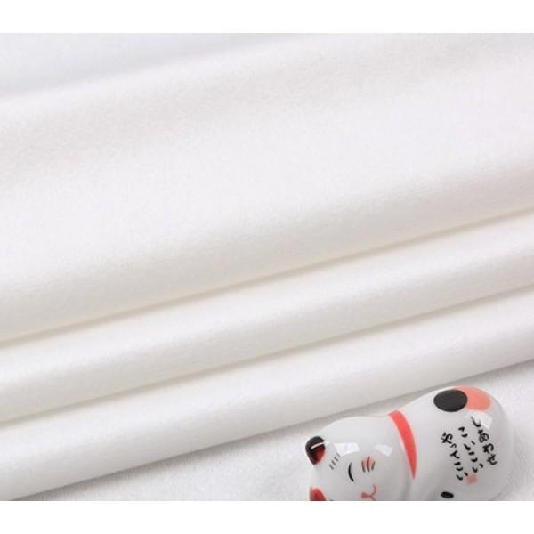 Бархатная ткань, пл.230 гр, р-р 35х50 см, цвет: белый с молочным оттенком