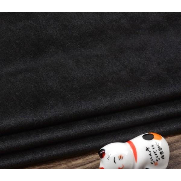 Бархатная ткань, пл.230 гр, р-р 35х50 см, цвет: черный