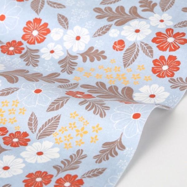 "Ткань хлопок DailyLike ""Цветы на голубом"", ширина 110 см, плотность 165 г.м арт.136"