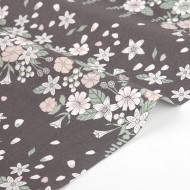 """Ткань хлопок DailyLike """"Осенние цветы"""", ширина 110 см, плотность 165 г.м арт.186"""