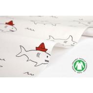 """Ткань хлопок DailyLike """"Акулы"""",  ширина 110 см, плотность 165 г.м арт. 478"""