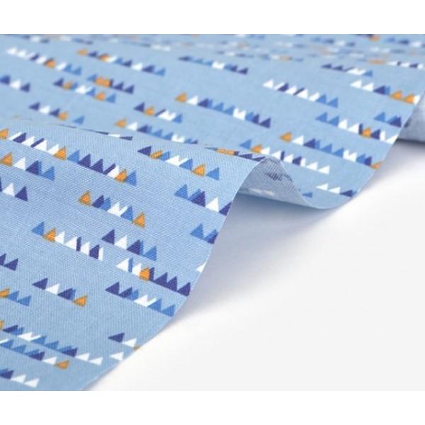 "Ткань хлопок DailyLike ""Флажки на голубом"", ширина 110 см, плотность 120 г.м арт. 529"