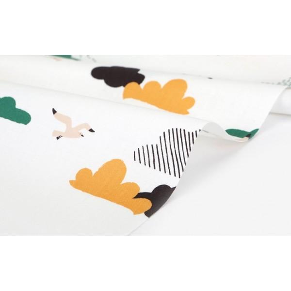 "Ткань хлопок DailyLike "" Облака на белом"",  ширина 110 см, плотность 165 г.м арт. 532"