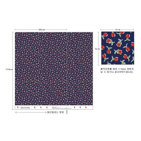 """Ткань хлопок DailyLike """"Крошечные тюльпаны"""", ширина 110 см, плотность 165 г.м арт. 640"""
