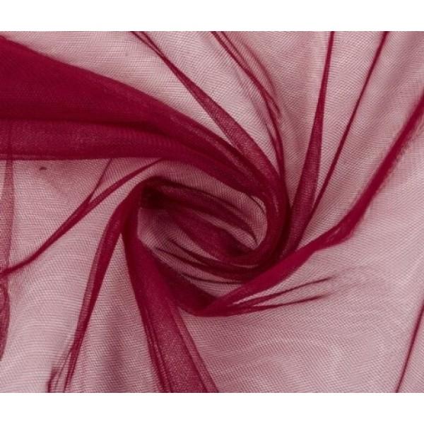 Фатин мягкий, еврофатин, длина 50 х 75 см, цвет: винный