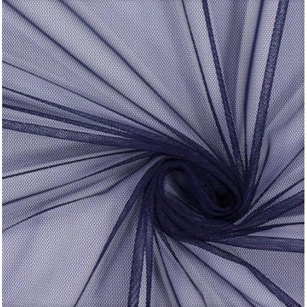 Фатин мягкий, еврофатин, длина 50 х 75 см, цвет: темно-синий