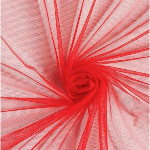 Фатин мягкий, еврофатин, длина 50 х 75 см, цвет: красный