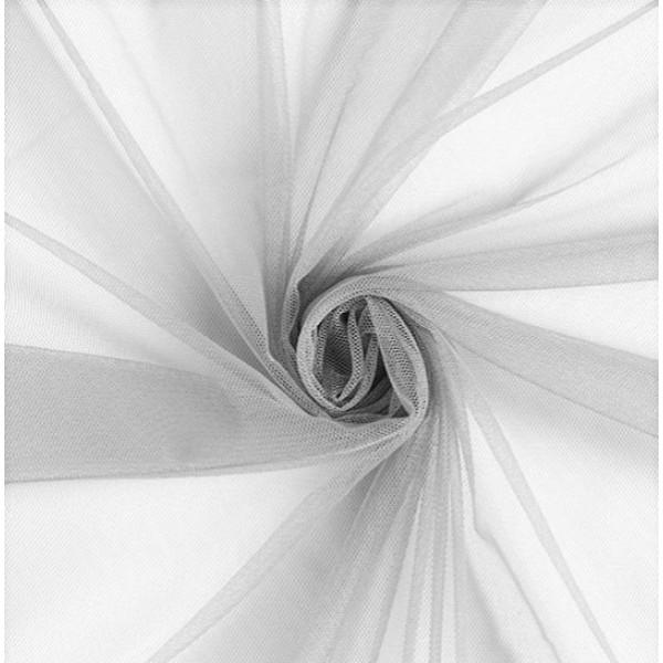 Фатин мягкий, еврофатин, длина 50 х 75 см, цвет: серый