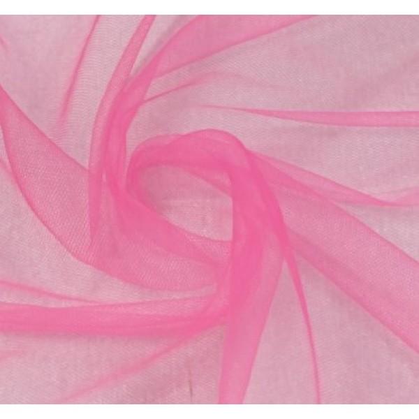 Фатин мягкий, еврофатин, длина 50 х 75 см, цвет: ярко-розовый