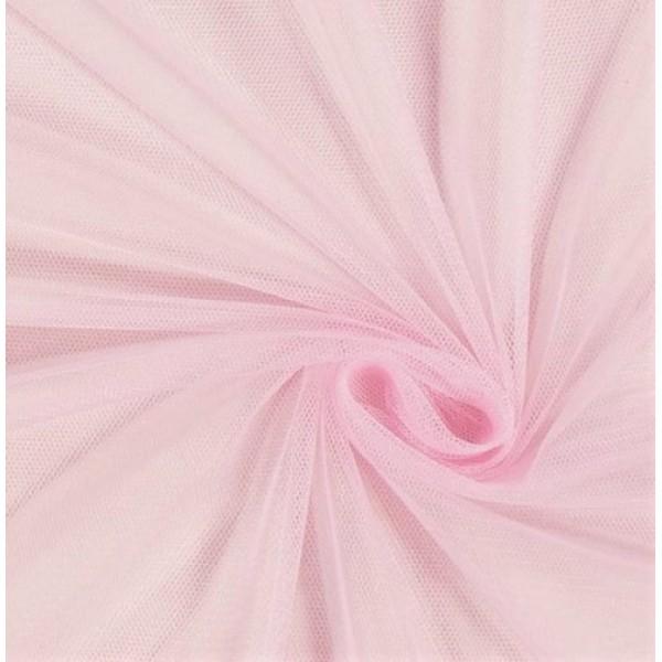Фатин мягкий, еврофатин, длина 50 х 75 см, цвет: нежно-розовый