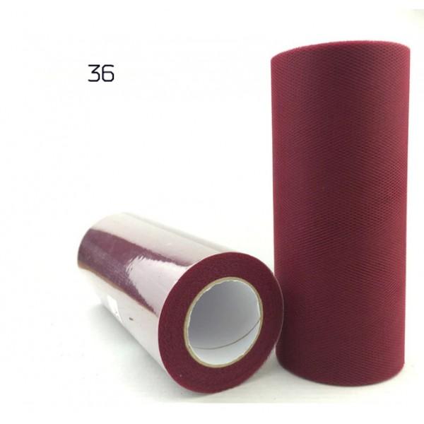 Фатин однотонный, длина 15 см х 100 см, цвета в ассортименте
