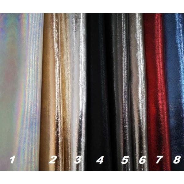 Искусственная кожа металлик, размер 35х50, цвет на выбор