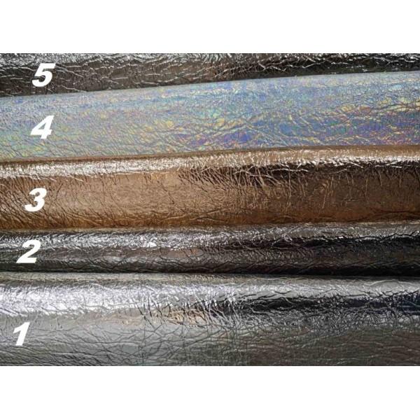 Искусственная кожа  сжатый металлик, размер 35х50, цвет на выбор