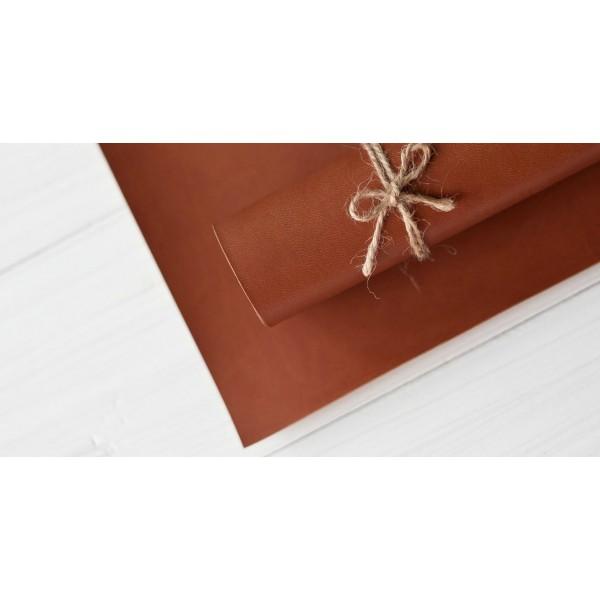 Переплетный кожзам (Италия), цвет рыже-коричневый