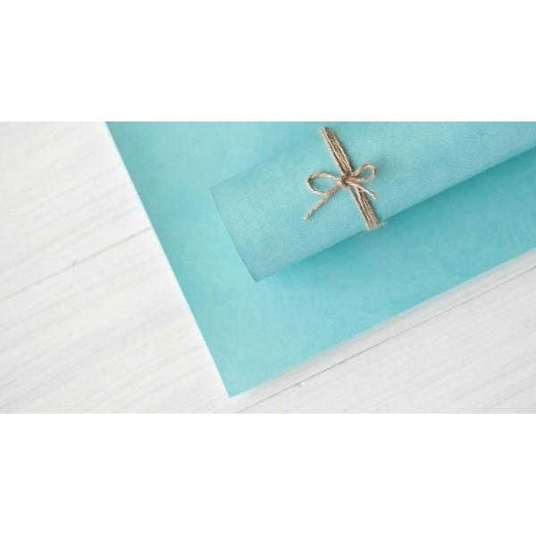 Переплетный кожзам (Италия), цвет голубой