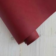Переплетный кожзам (Италия), цвет: темно-красный