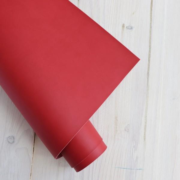 Переплетный кожзам (Италия), цвет: алый