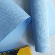 Переплетный кожзам тиснение клетка, цвет: светло-голубой