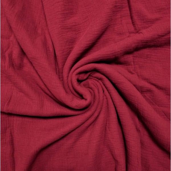 Муслин хлопок, цвет бордовый арт. mus11