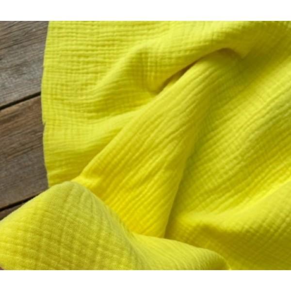 Муслин хлопок, цвет желтый арт. mus11